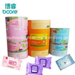 Toalhetes húmidos toalhetes de limpeza para bebé pacote plástico saquetas de embalagens de alumínio