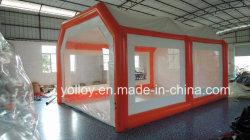 Im Freien bewegliches Auto-Garage-Zelt-aufblasbarer Spray-Lack-Stand