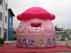 Надувные розовый цветочный рисунок Bouncer дом для детей Chb123