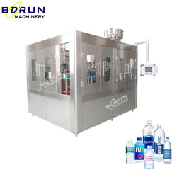 Bottiglia d'acqua sorgetta lavatrice tappatrice con tappo in linea Sterilizzatore