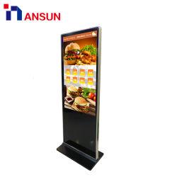 LCD 디스플레이를 광고하는 실내 독립 구조로 서있는 3G WiFi 통신망 디지털