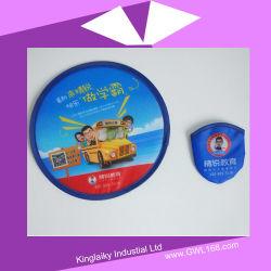 190t de Vouwbare Ventilator Frisbee die van de polyester met de Druk van het Scherm Vliegend Stuk speelgoed voet-001 vouwen