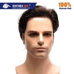 Stock Indian Human Hair Natural Men Toupee