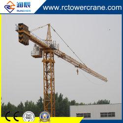 Ce parado Self-Erection/ Qtz50/ 5010/ Boom 50m/ 5t Topkit grúa torre para obras de construcción