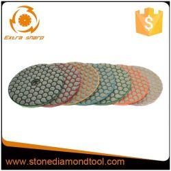 Flexible de diamante pulido en seco de las pastillas para Mármol y Granito/cemento