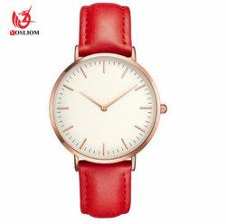 Dunne Riem Mens Watch#V787 van het Geslacht van de Horloges van Mens van de Riem van het Horloge van het Leer van het Ontwerp van de manier de Dunne Zwarte