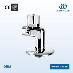 Válvula de ângulo de latão forjado com revestimento cromado para a água
