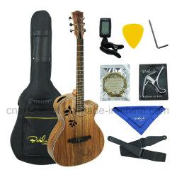 """40""""Bailando orifício lateral em madeira de nogueira Guitar"""