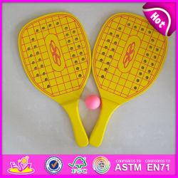 2015 Novo design do conjunto raquete de praia de madeira, Praia de madeira de boa qualidade Racket, logotipo do conjunto de raquetes de Praia Praia Impresso Racket Toy W01A103