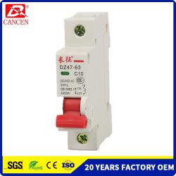무료 샘플 MCB DC/AC 의 태양계 PV 회로 차단기, 1-6A 10-32A 40-32A 의 6ka/10ka 높은 끊는 수용량, 1p에 4p, 100V/230V/400V, ODM OEM