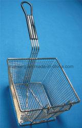 Квадратная корзина Fry с резиновый ручкой 9 дюймов вспомогательного оборудования Fryer