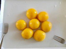 820 g Gelbe Pfirsiche in Sirup in Hälften/Schicht