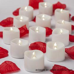 شمعة دافئ بيضاء عديم لهب [لد] [تليغت] مع زهرة