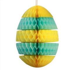 El papel de huevo en forma de panal de linterna de papel plegable decoración panal.
