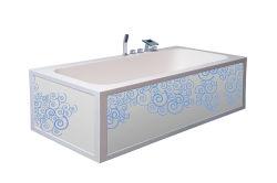 Proveedor del blanco chino color Nuevo diseño similar como piedra natural Bañera, modelo de yeso Bañera con moderna