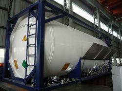 Llenos de gas argón líquido en el depósito de ISO