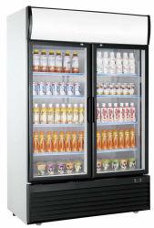 Réfrigérateur vertical de luxe vitrine pour le café boisson Pizza gâteau