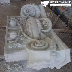 Carara White Unpolished Carving Marble für Garten Decoration