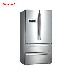 acier inoxydable Big français porte réfrigérateur avec machine à glaçons