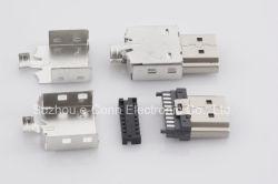 Type de soudure HDMI mâle 4Connecteur conviennent à la pièce