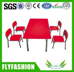 Metallrahmen-Kind-hölzernes Tisch-Set für Verkauf (SF-19C)