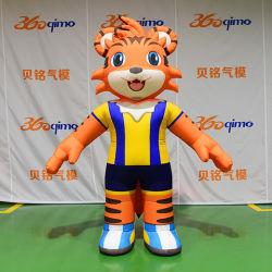Personnalisés Airblown extérieur Tiger Modèle Animal Costume gonflable