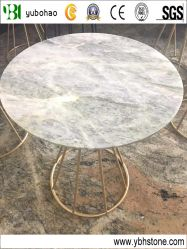 Ume cinzento/mármore polido Round Table Top