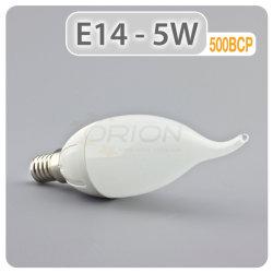 Warme weiße angebundene 5W C37 LED E26 E14 Kerze-Glühlampe des neuen Produkt-