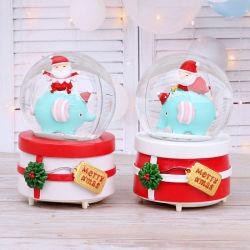 Commerce de gros de boule de cristal de haute qualité La boîte à musique pour Noël