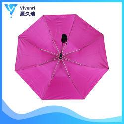 ファブリック、Parasol女性の外の銀製のコーティングのための自動折られた傘