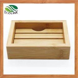 Piatto di sapone di bambù di legno naturale per la stanza da bagno