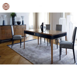 Table à manger en bois simple moderne pour l'hôtel restaurant chambre à coucher Mobilier de salle à manger