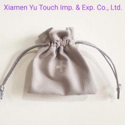 Cordon en cuir personnalisé de faux daim Bijoux sac pochette