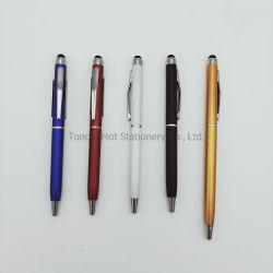 Corto promocional de bajo precio de 11cm Mini Lápiz Bolígrafo con clip metálico y anillo