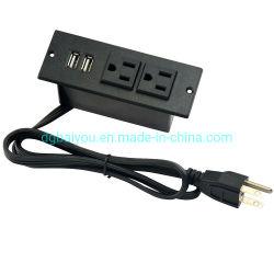 Два порта USB адаптер зарядного устройства на стене мебель зарядки аккумуляторной батареи на выходе из США