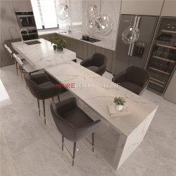 Projetado Calacatta Branco Pedra de quartzo as bancadas fiquem riscadas de cozinha