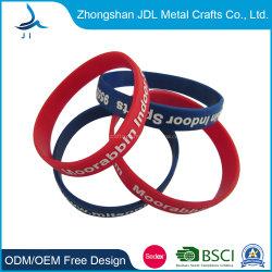 Preiswerte kundenspezifische Großhandelsfarbe des Form-Mann-Sport-RFID füllte gedrucktes Debossed weiches Silikon-Klaps-Handgelenk-Band-Gummisilikon-intelligentes Armband für fördernde Geschenke