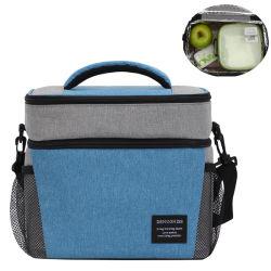 Comercio al por mayor Tote alimentos cerveza vino la comida de picnic con aislamiento de enfriador de bolsa con correa para hombro solo