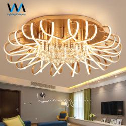 暖かく軽いシャンデリアのローズ金LEDの天井ランプ