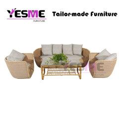 Sofà esterno moderno di svago del giardino della mobilia del rattan del salone del ricorso del salone della famiglia
