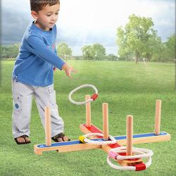Anillo de madera Hand-Eye mejorar Toss niños patio fuera de los juegos (GY-W0084)