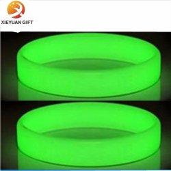 Luz fluorescente de silicona pulseras pulseras accesorios de fiesta