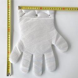 100pcs par Pack avec un trou de la cosse à oeillet Eco Friendly Oxo biodégradable compostable LDPE PEHD claire des gants jetables en plastique de cuisine Restaurant PE Gant de nettoyage