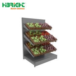 Одной стороны металлической овощной продукции дисплей для установки в стойку
