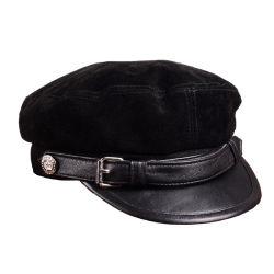 Kundenspezifischer Stickerei-Leder-Hut-Formmens-Militärarmee-Sohn-Schutzkappe Headwear Fabrik