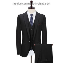 Gute Quanlity dünne Sitz-Form-formale Art-schwarze Männer `S Klagen
