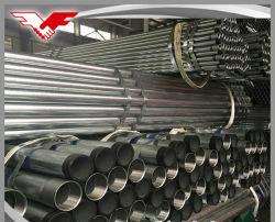 Revestido de zinco médio quente rosqueado galvanizado Tubos de Aço com acoplamento de aço e tampas de plástico