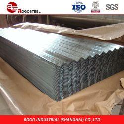 Оцинкованной стали с полимерным покрытием гофрированный листа крыши как Ral 3002 ASTM A527 A526 G90 Z275 Олово цинк пластину