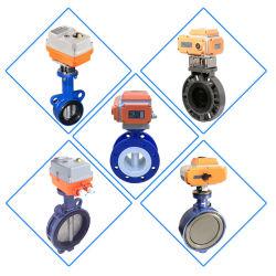 Anti-Corrosive dB Sr Cilindro de Aire de acción eléctrica del asiento de caucho de la válvula de mariposa con brida