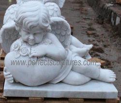 Hand geschnitzte Marmorgranit-Statue-Friedhof-Engels-Denkmäler für Kirchhof-Skulptur (SY-X0184)